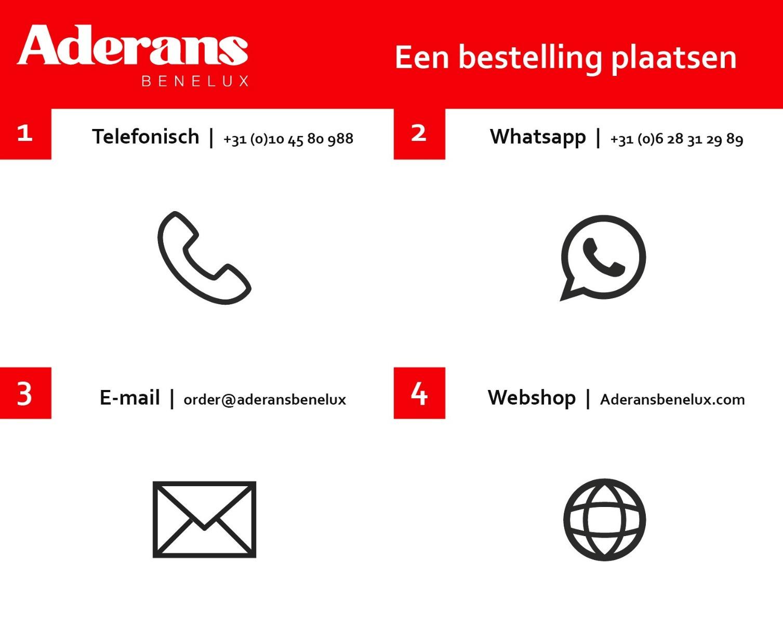 Bestellen bij Aderans Benelux